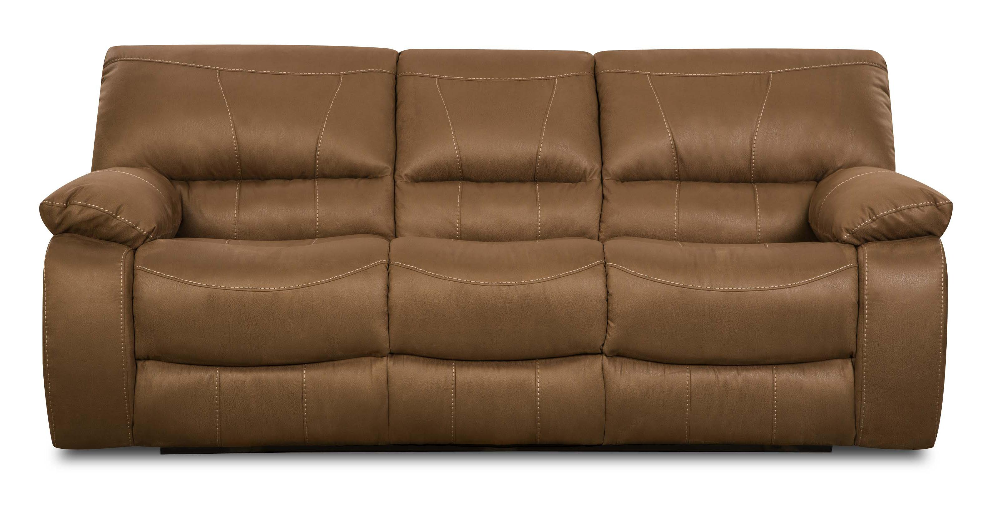 Simmons Upholstery 50240 Casual Reclining Sofa - Item Number: 50240 Motion Sofa Sepia