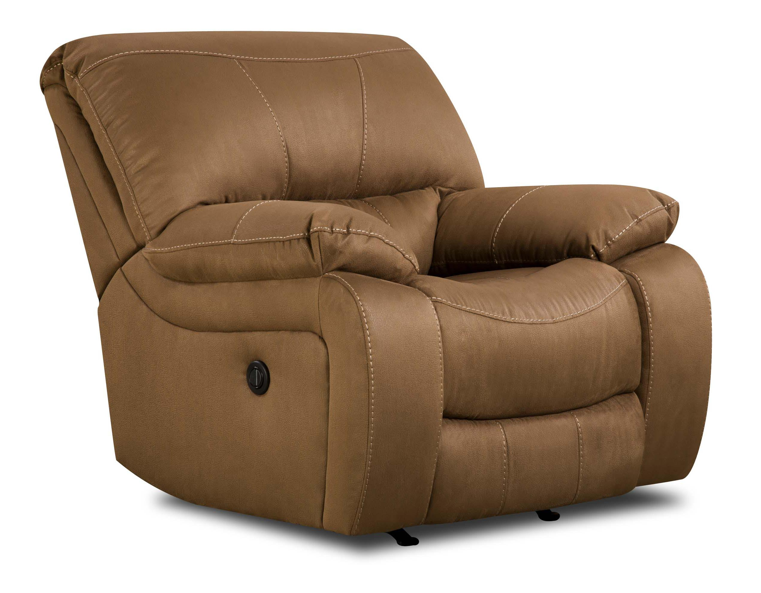 Simmons Upholstery 50240 Casual Rocker Recliner - Item Number: 50240 Rocker Sepia