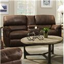 United Furniture Industries 50364 Power Double Motion Console Loveseat - Item Number: 50364PowerConsoleLoveseat-Mocha