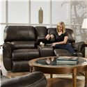 United Furniture Industries 50365 Casual Double Motion Console Loveseat - Item Number: 50365-P Motion Loveseat Cocoa