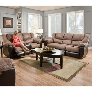 United Furniture Industries 50431 Casual Reclining Living Room Group