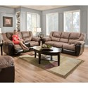 United Furniture Industries 50431 Casual Reclining Living Room Group - Item Number: 50431 Living Room Group 1