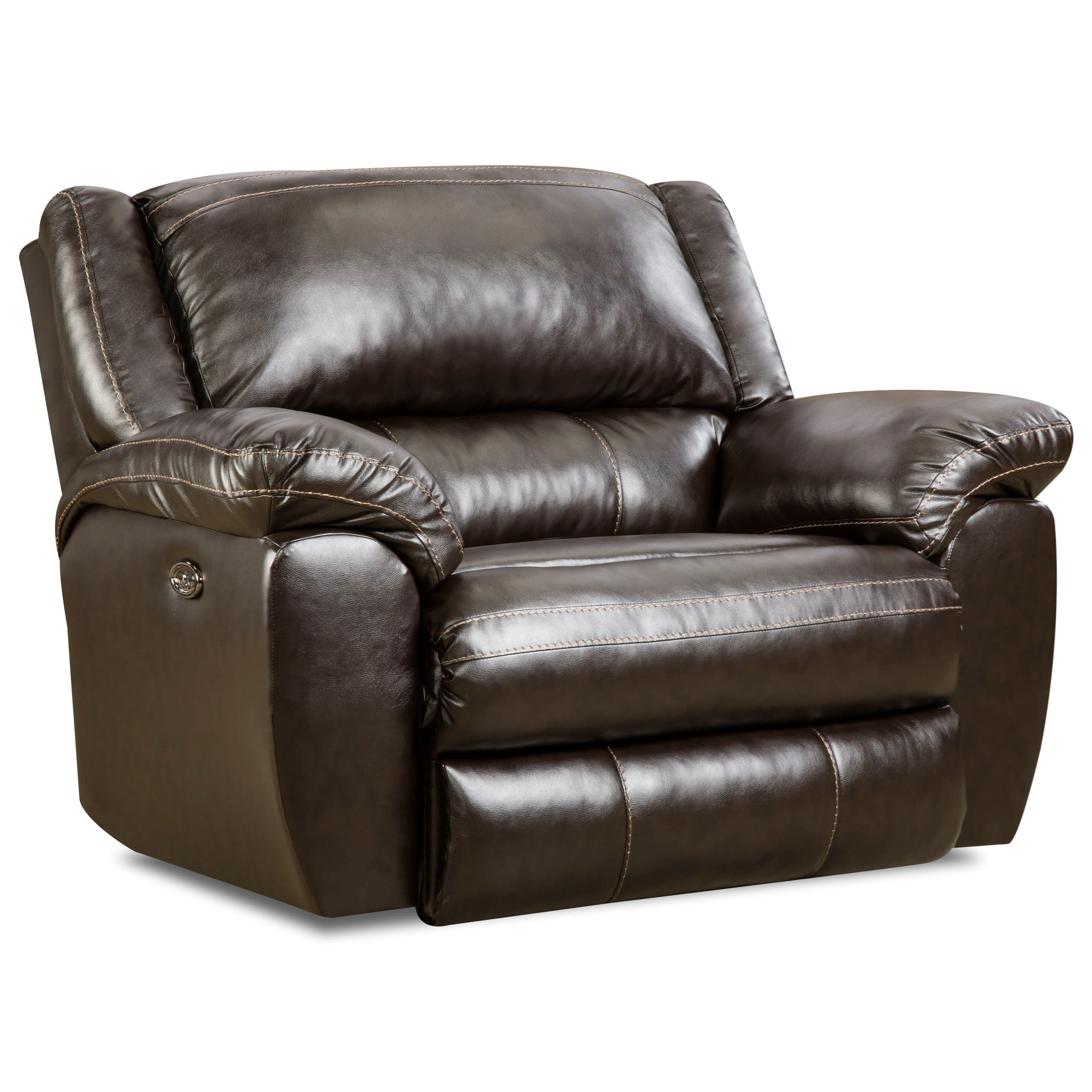 Simmons Upholstery 50433BR Power Cuddler Recliner - Item Number: 50433BRPCuddlerRecliner-BingoBrown