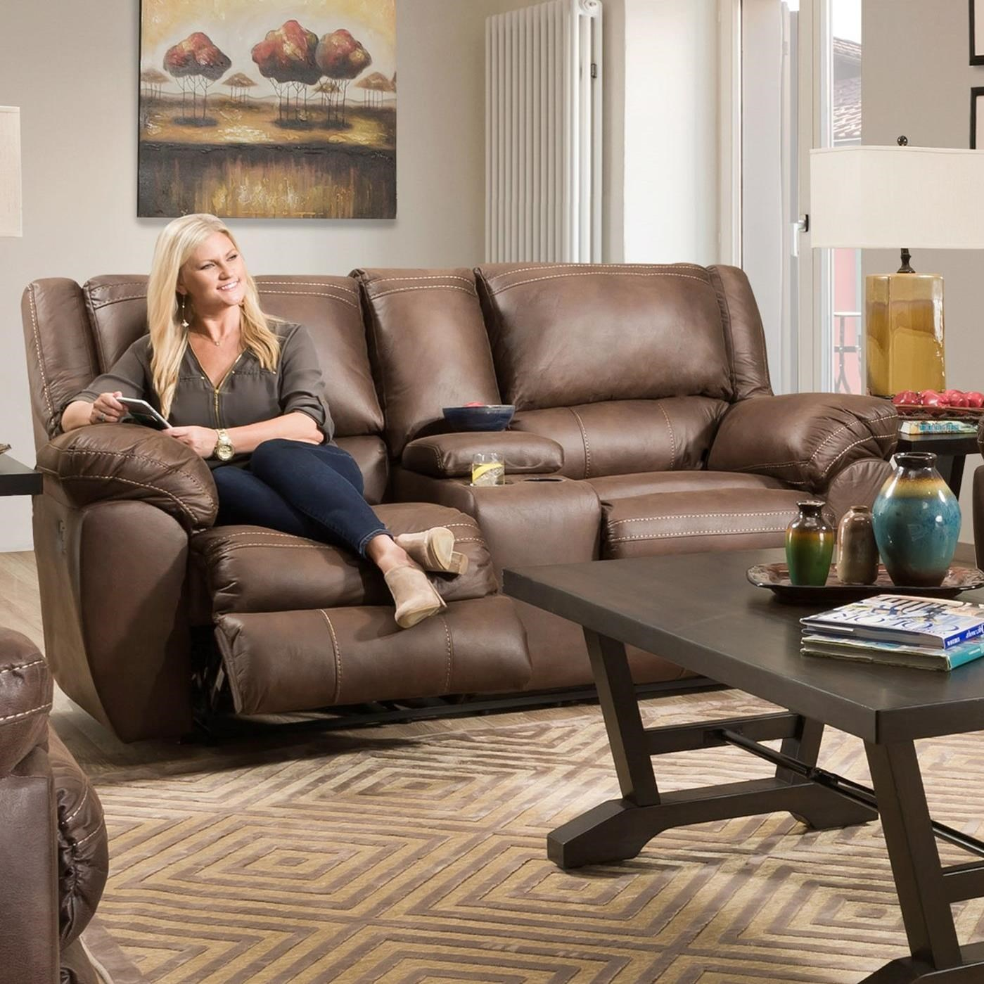 50433BR Power Double Motion Console Loveseat by United Furniture Industries at Dream Home Interiors