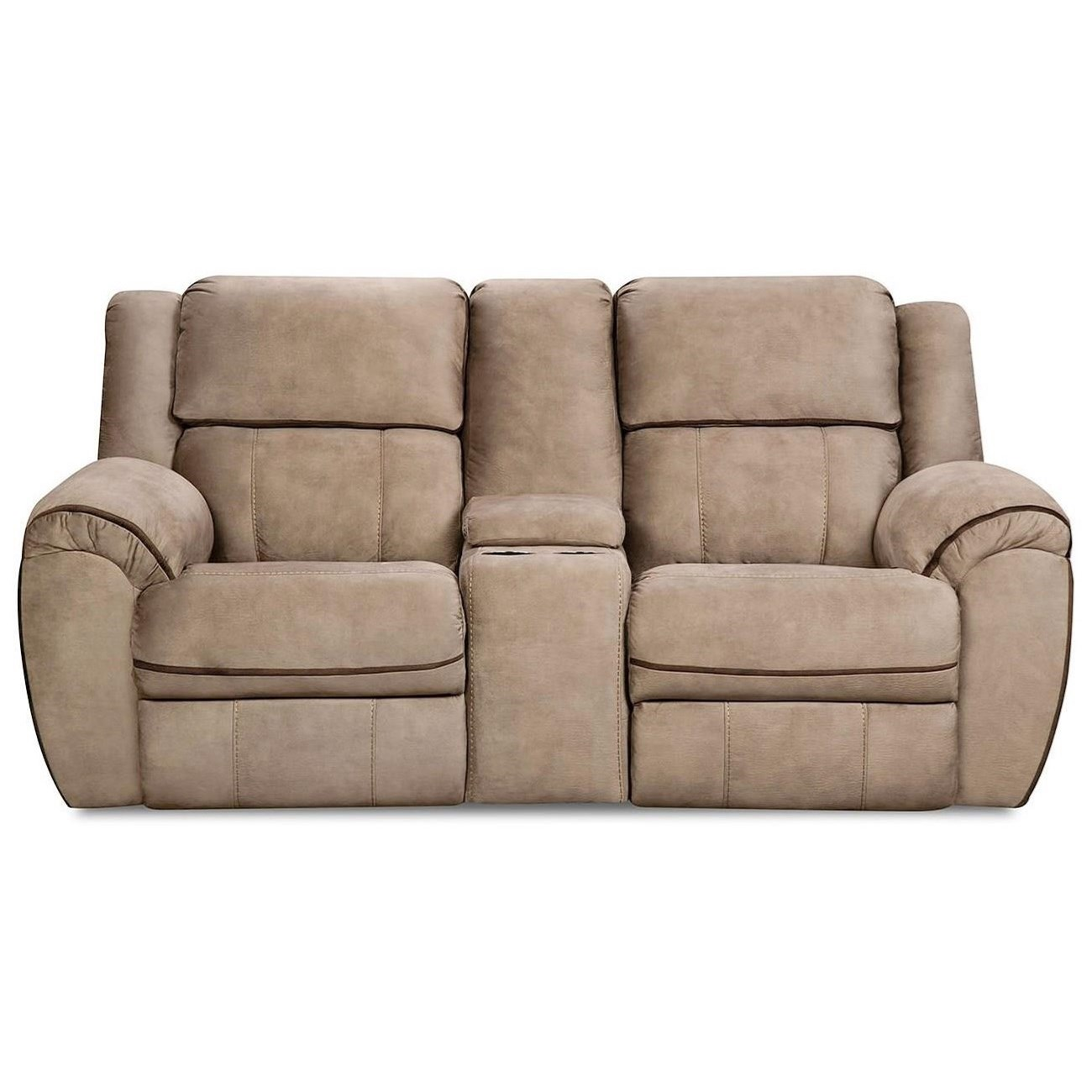 50436BR Power Reclining  Console Loveseat by Simmons Upholstery at O'Dunk & O'Bright Furniture