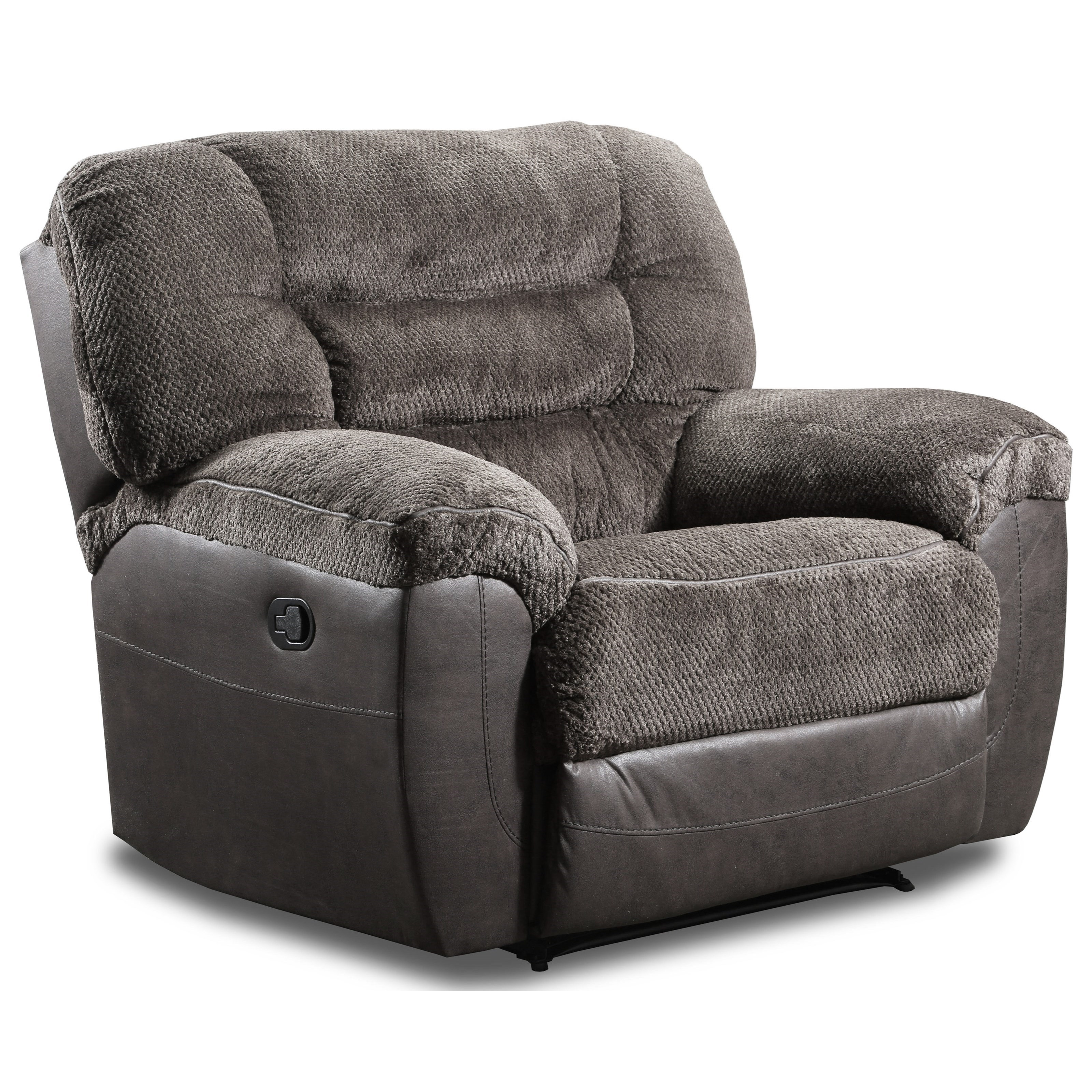 50439BR Reclining Cuddler Recliner by Simmons Upholstery at Dunk & Bright Furniture