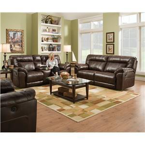 United Furniture Industries 50751 ABIL TOBAC Reclining Loveseat