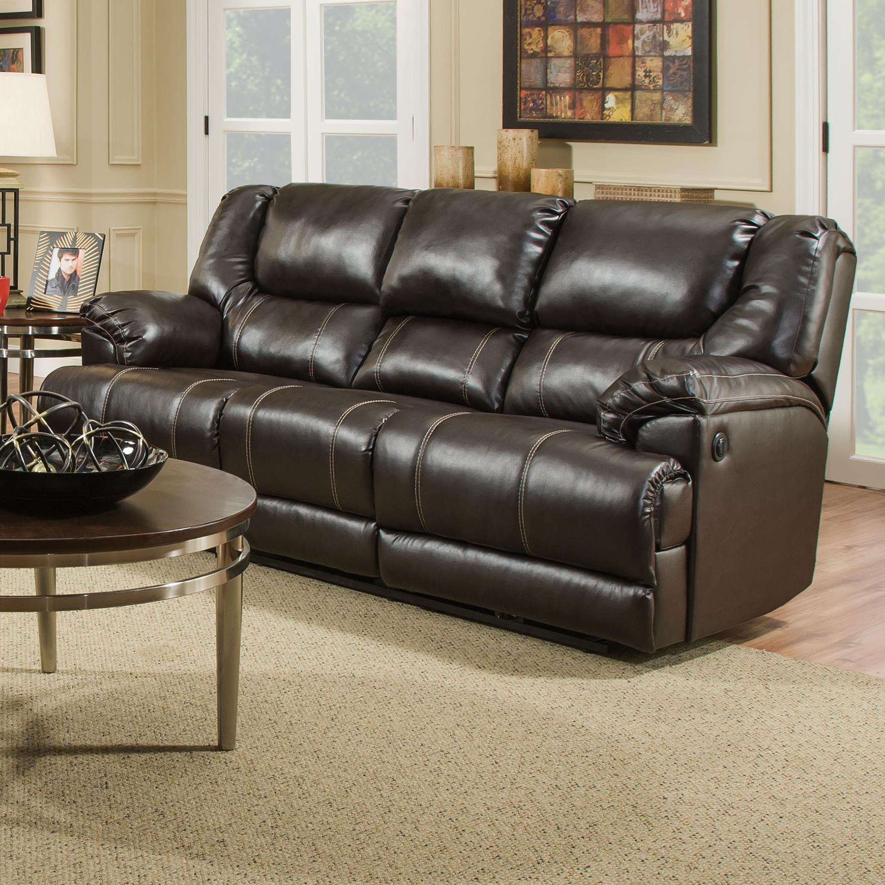 United Furniture Industries 50451 Casual Motion Sofa With Table Miskelly Furniture Reclining