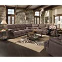 Blue Hill 50455BR 3-Piece Reclining Sectional - Item Number: 50455BR-53+63+07