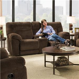 United Furniture Industries 50570 Double Motion Loveseat w/ Console