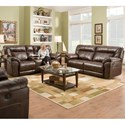 United Furniture Industries 50571BR Casual Power Double Motion Sofa