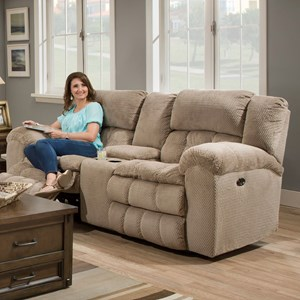 United Furniture Industries 50580BR Double Motion Loveseat