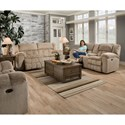 United Furniture Industries 50580BR Casual Double Motion Loveseat - Image shown may not represent reclining option indicated
