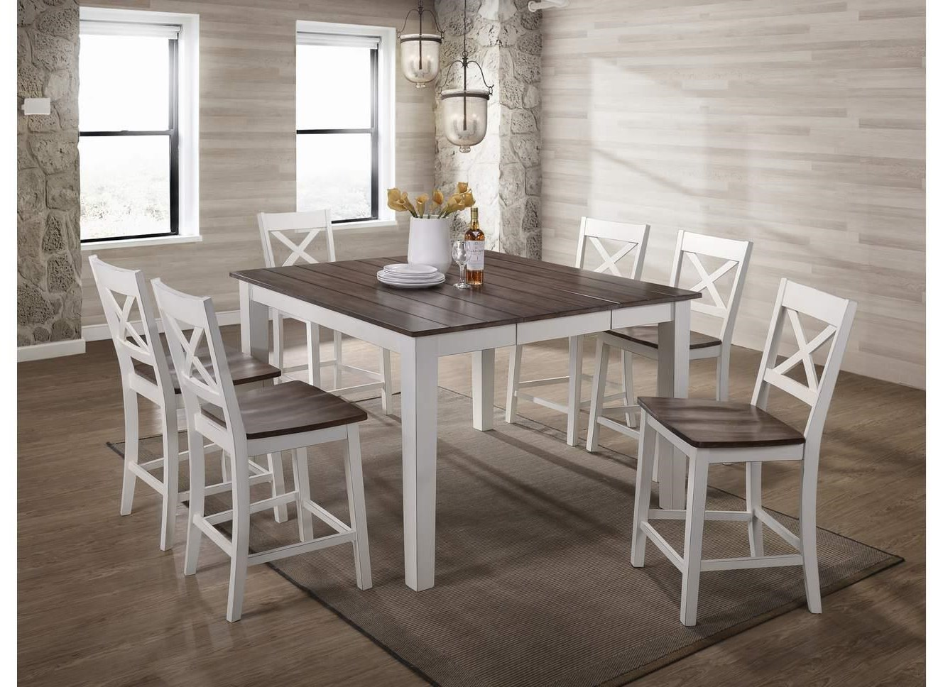 5057 Table and Stools by United Furniture Industries at Value City Furniture