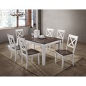 United Furniture Industries 5057 7 Piece Table and Chair Set - Item Number: 5057-59+6x52