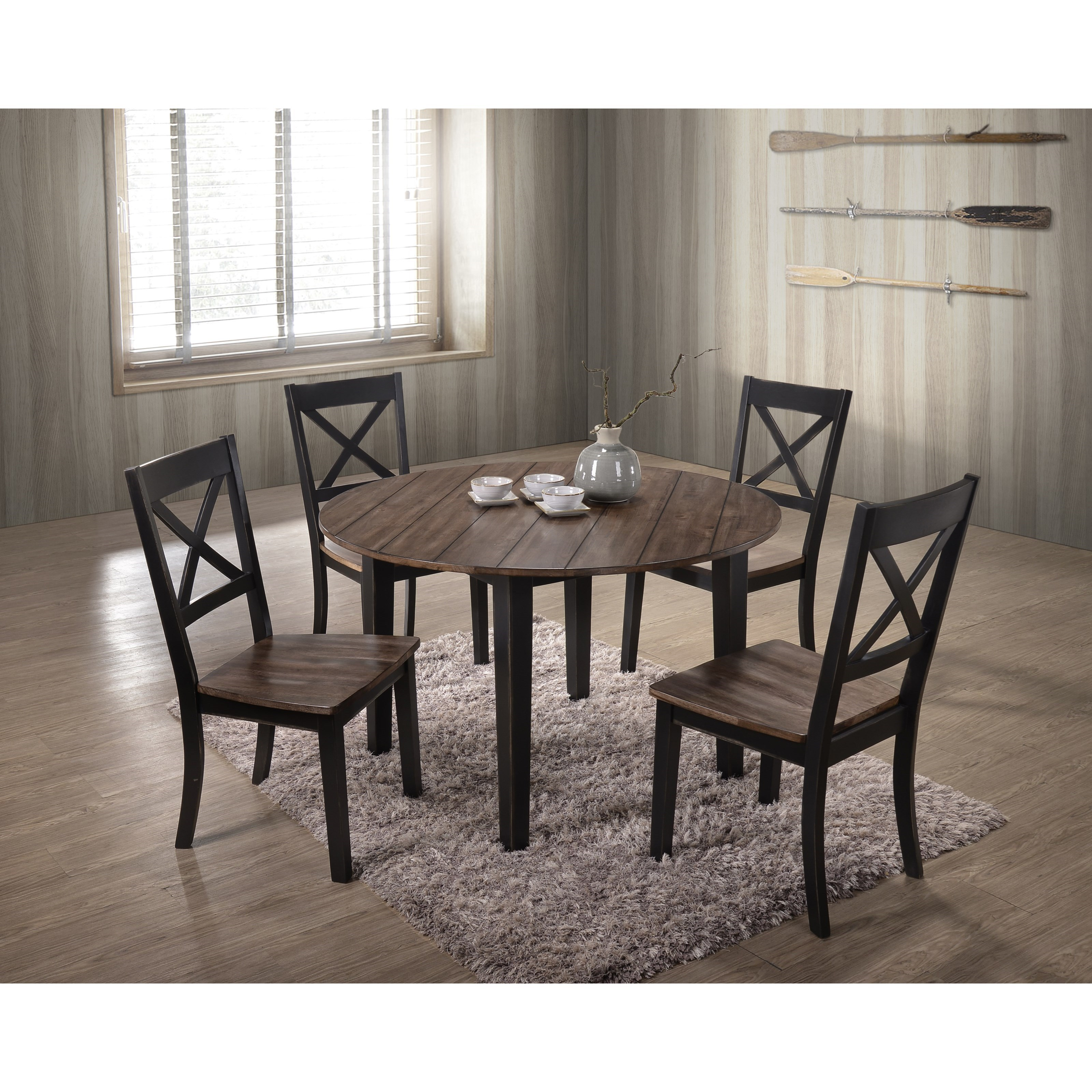 5058 5 Piece Table and Chair Set by United Furniture Industries at Dream Home Interiors