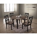 United Furniture Industries 5058 5 Piece Table and Chair Set - Item Number: 5058-48+4x52