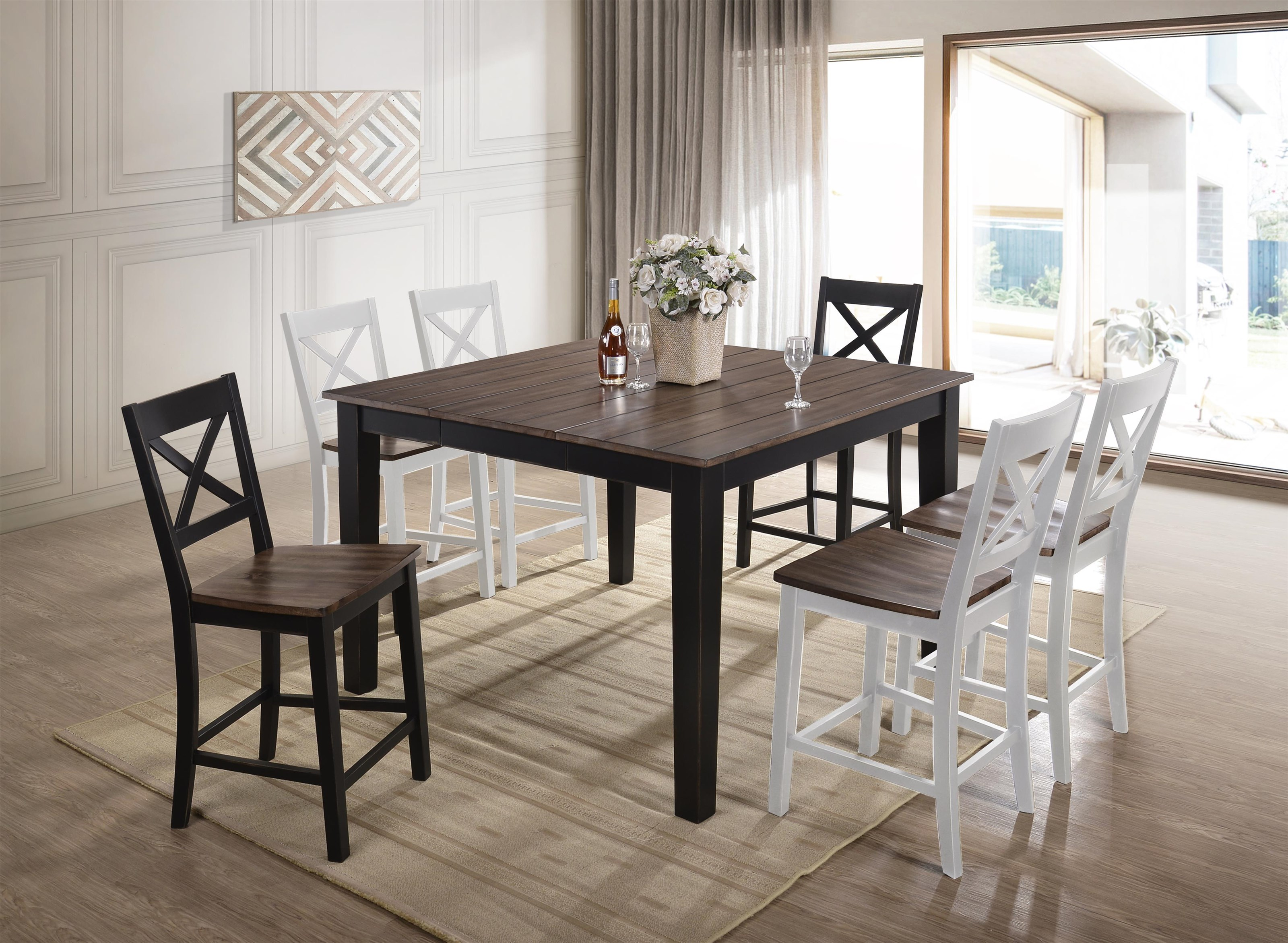 5058 Counter Height Square Dining Table by United Furniture Industries at Value City Furniture