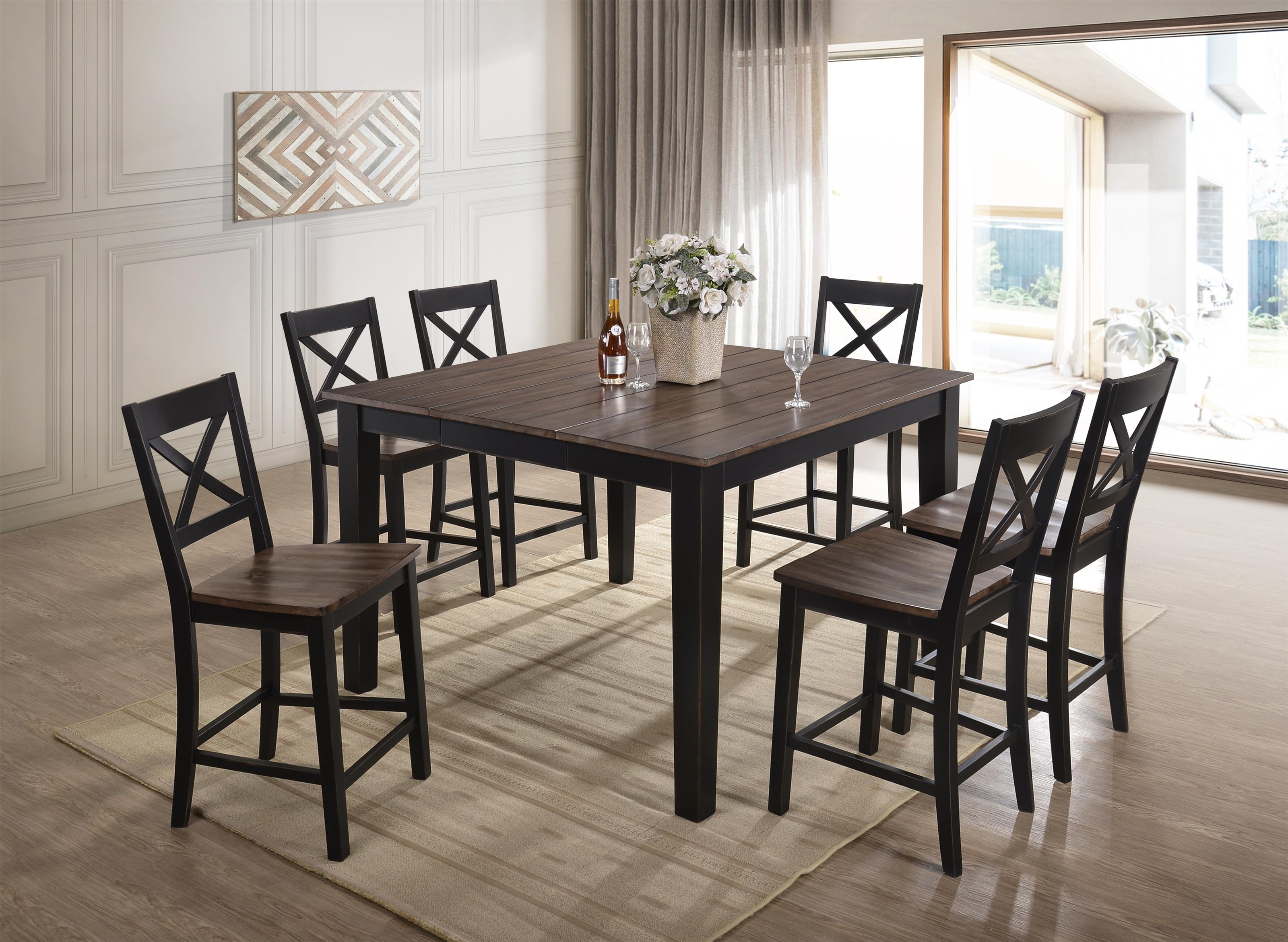 5058 Table and Stools by United Furniture Industries at Value City Furniture
