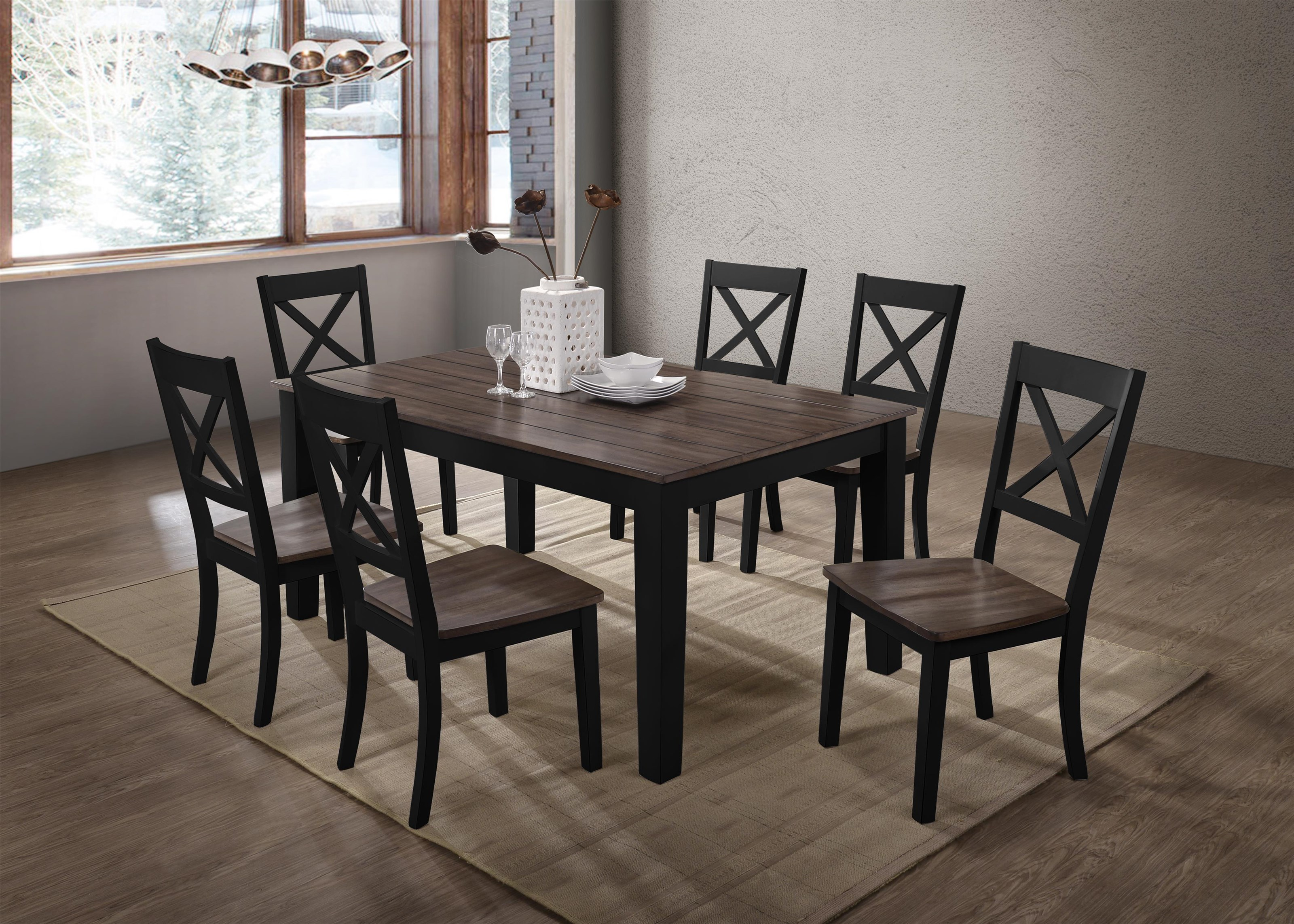 5058 7 Piece Table and Chair Set by United Furniture Industries at Value City Furniture
