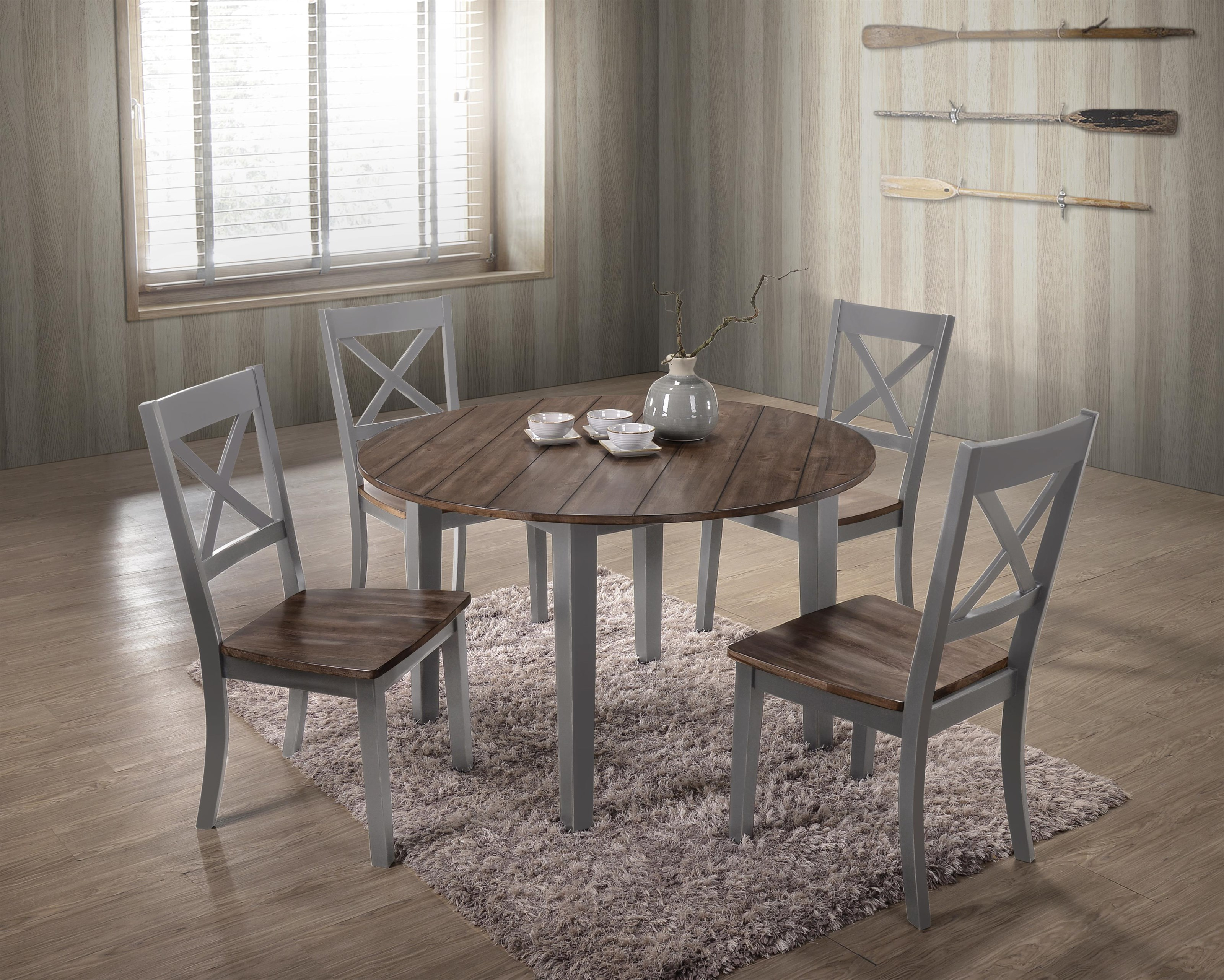 5059 5 Piece Table and Chair Set by United Furniture Industries at Value City Furniture