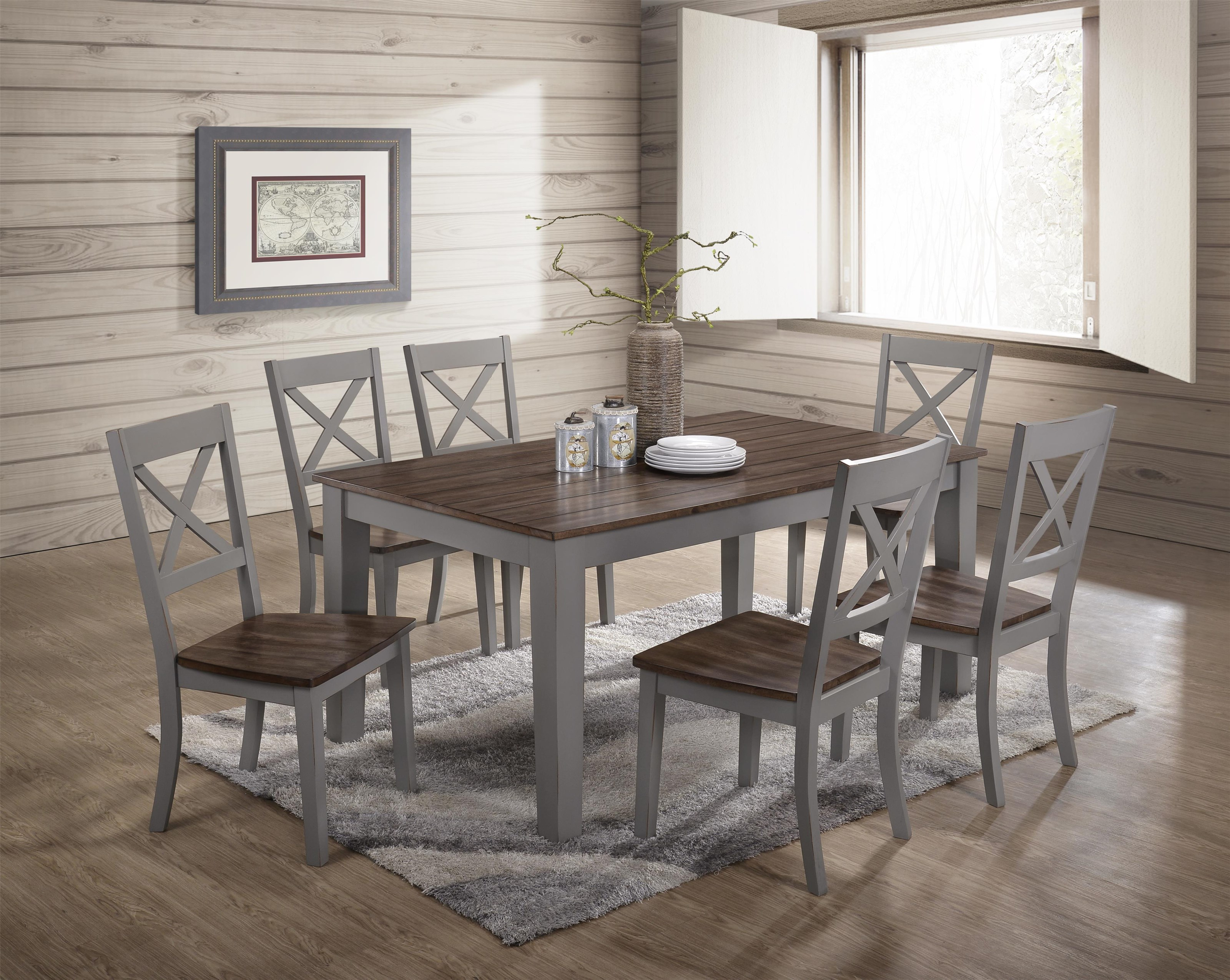 5059 7 Piece Table and Chair Set by United Furniture Industries at Value City Furniture