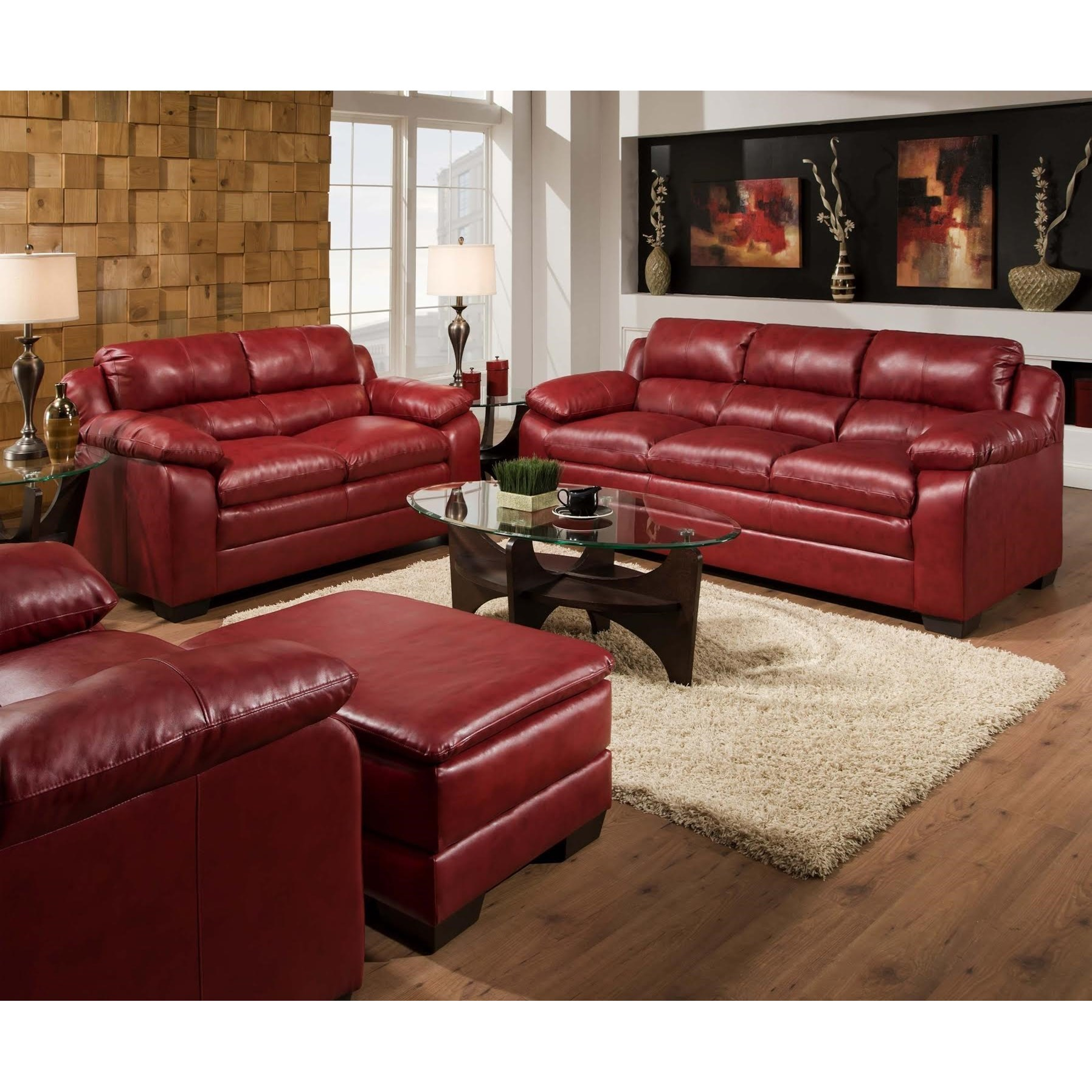 United Furniture Industries 5066 Stationary Sofa and Loveseat Group - Item Number: 5066 Living Room Group 1 Cardinal