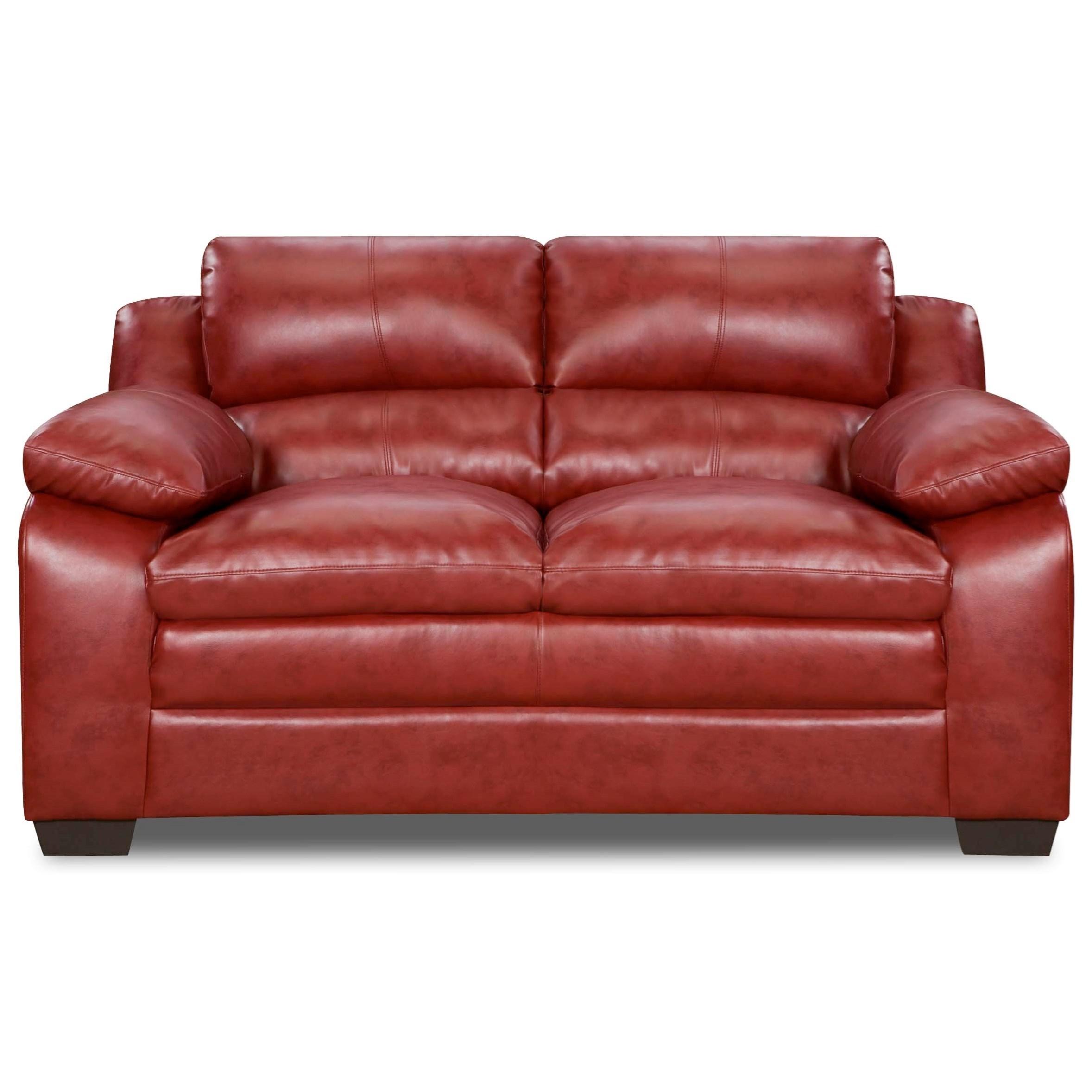 United Furniture Industries 5066 Loveseat - Item Number: 5066Loveseat-SohoCardinal