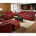 United Furniture Industries 5066 Casual Loveseat Sofa with Pillow Top Arms