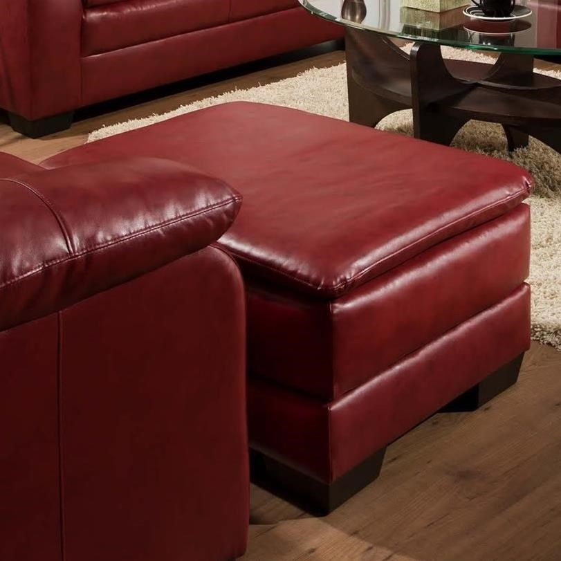 United Furniture Industries 5066 Ottoman - Item Number: 5066Ottoman-SohoCardinal