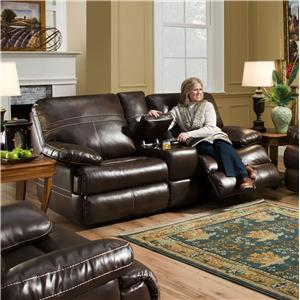 Simmons Upholstery 50981 Double Motion Console Loveseat