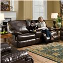 United Furniture Industries 50981 Double Motion Console Loveseat - Item Number: 50981-Loveseat-Saddle