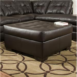 Simmons Upholstery 5122 Transitional Cocktail Ottoman