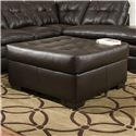 United Furniture Industries 5122 Transitional Cocktail Ottoman - Item Number: 5122CocktailOtto-Espresso