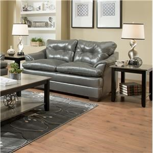 Simmons Upholstery 5122 Casual Loveseat
