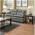Simmons Upholstery 5122 Casual Loveseat - Item Number: 5122GRAYLOVE
