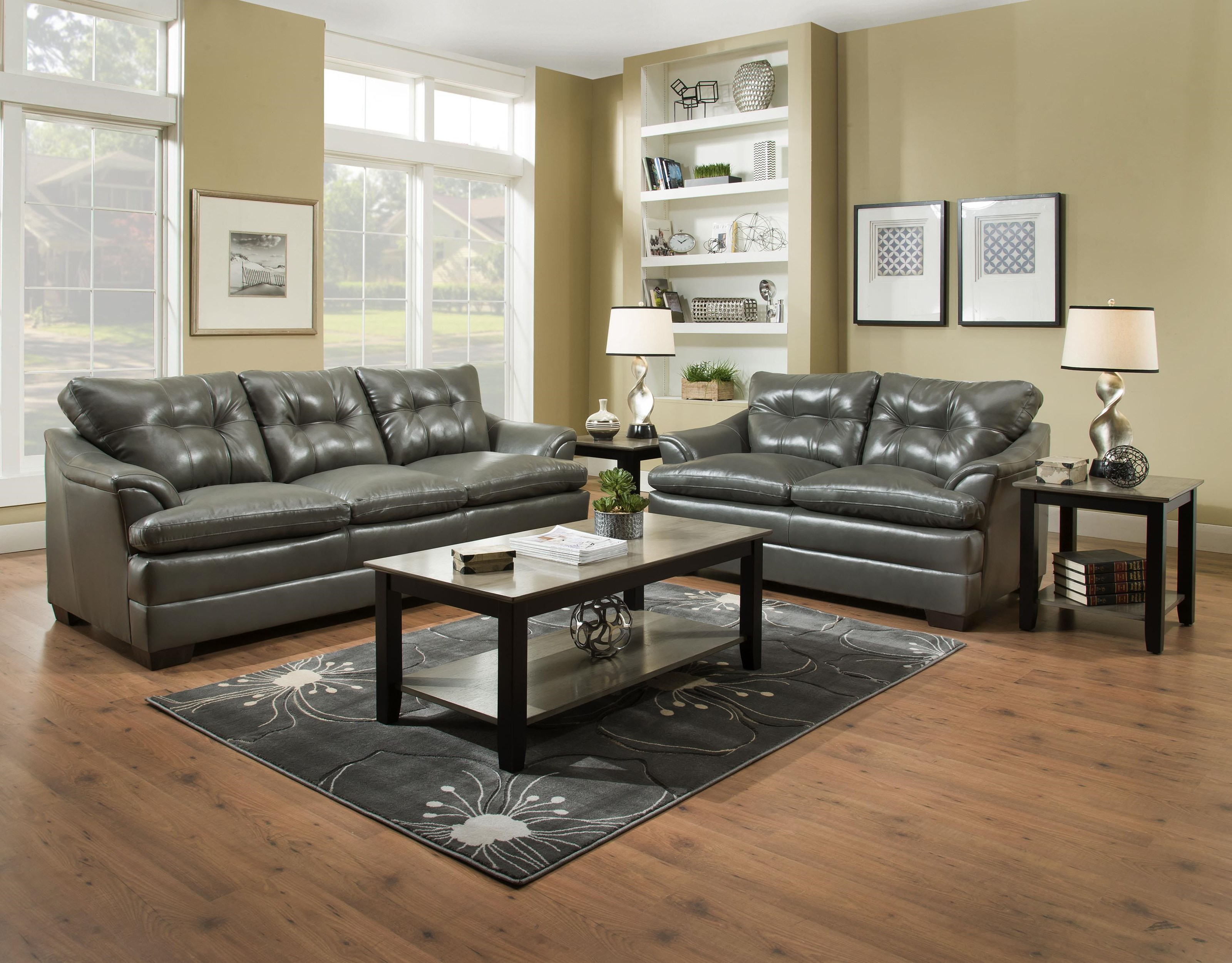 Casual Sofa and Loveseat