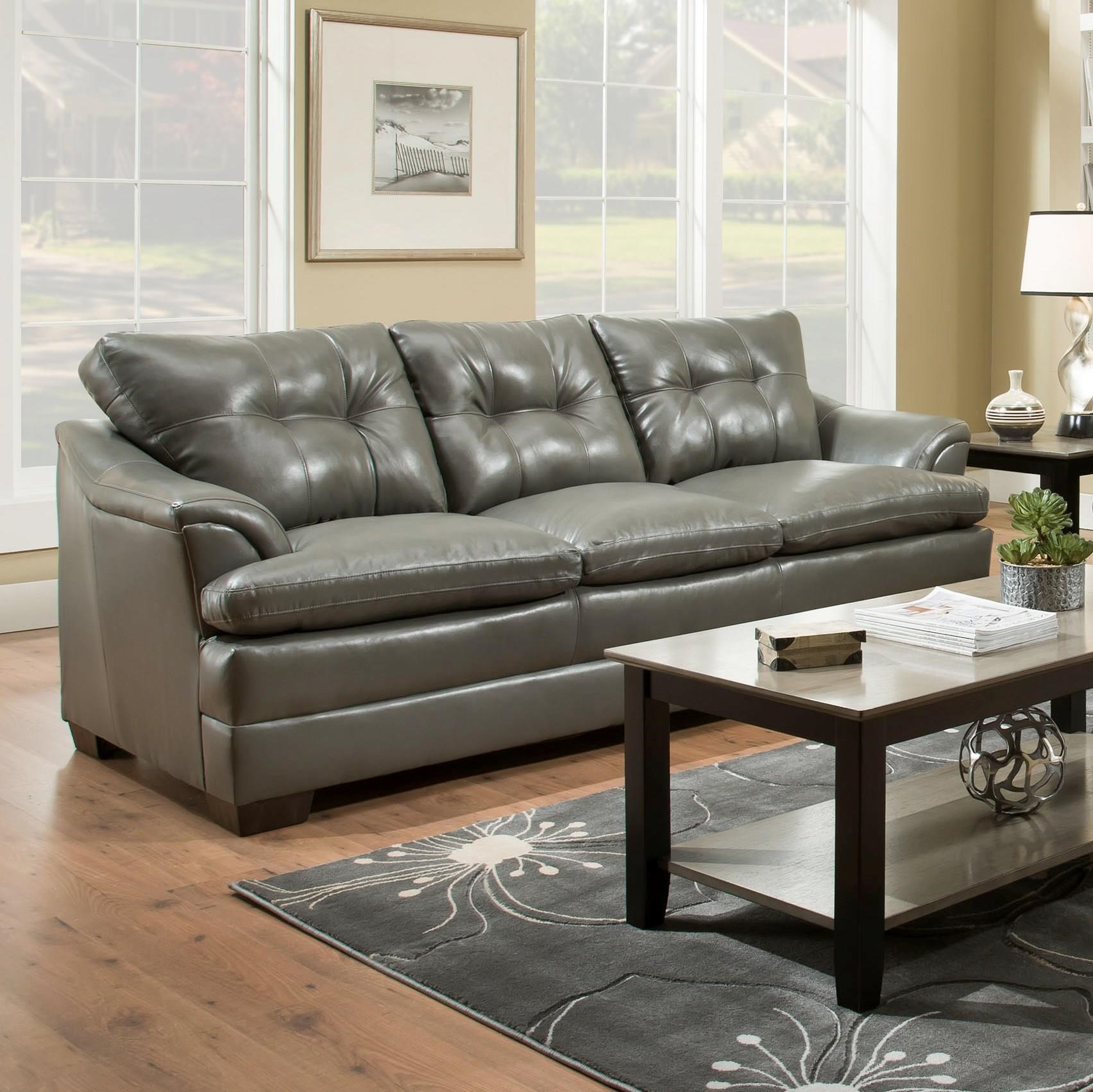 Simmons Upholstery 5122 Casual Sofa With Rolled Arms Royal