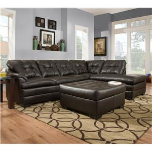 United Furniture Industries 5122 Transitional Sectional Sofa