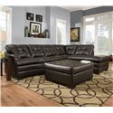 United Furniture Industries 5122 Transitional Sectional Sofa - Item Number: 5122LAFSofa+RAFBump-Espresso