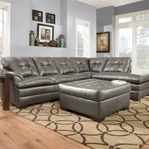 2 Piece Sectional with Ottoman