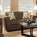 United Furniture Industries 5154 Casual Loveseat - Item Number: 5154Loveseat-Mocha