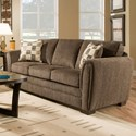 United Furniture Industries 5154 Casual Stationary Sofa - Item Number: 5154Sofa-Mocha