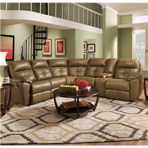 United Furniture Industries 53200 Casual Reclining Sectional Sofa