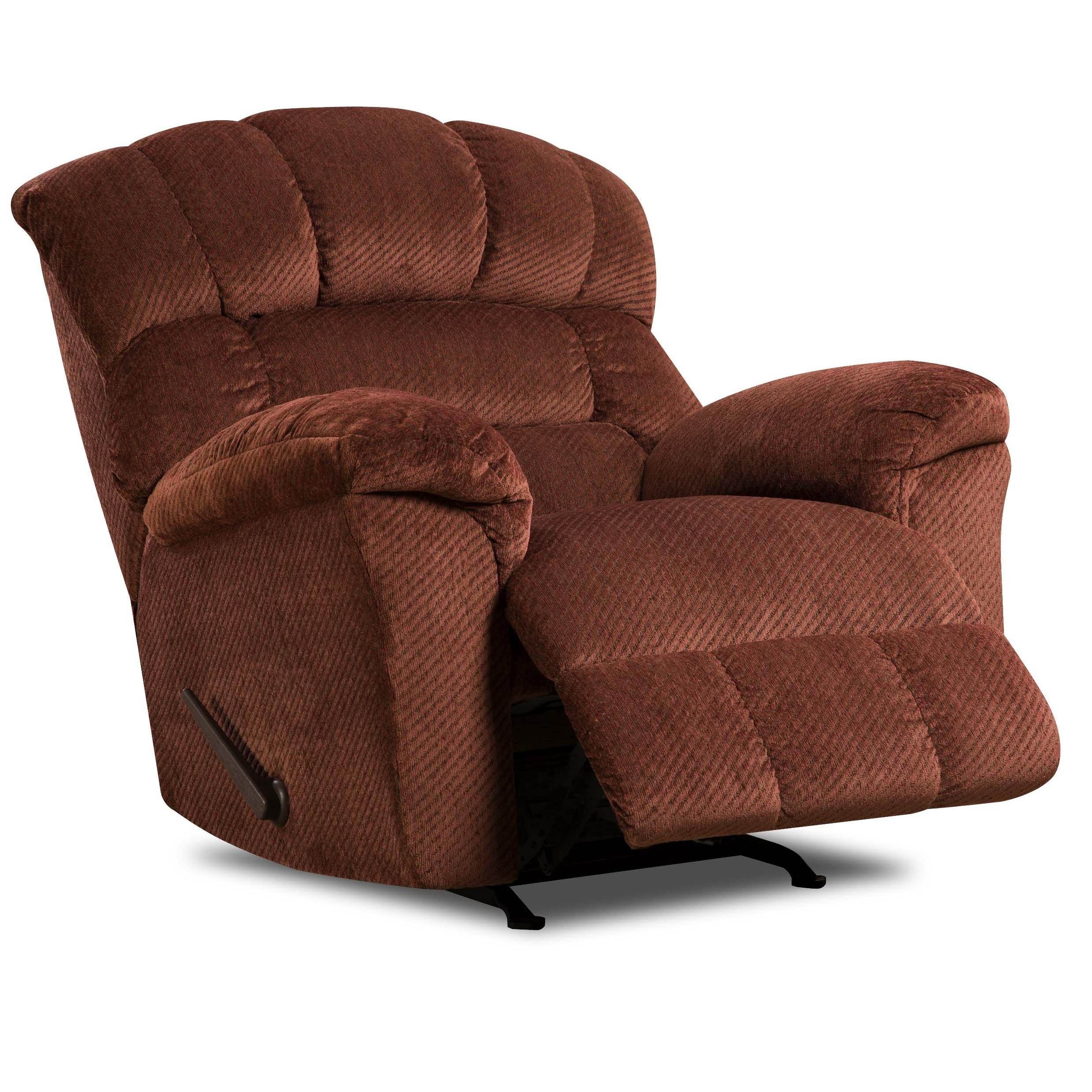 United Furniture Industries 558 Rocker Recliner - Item Number: 588 Recliner Burgandy