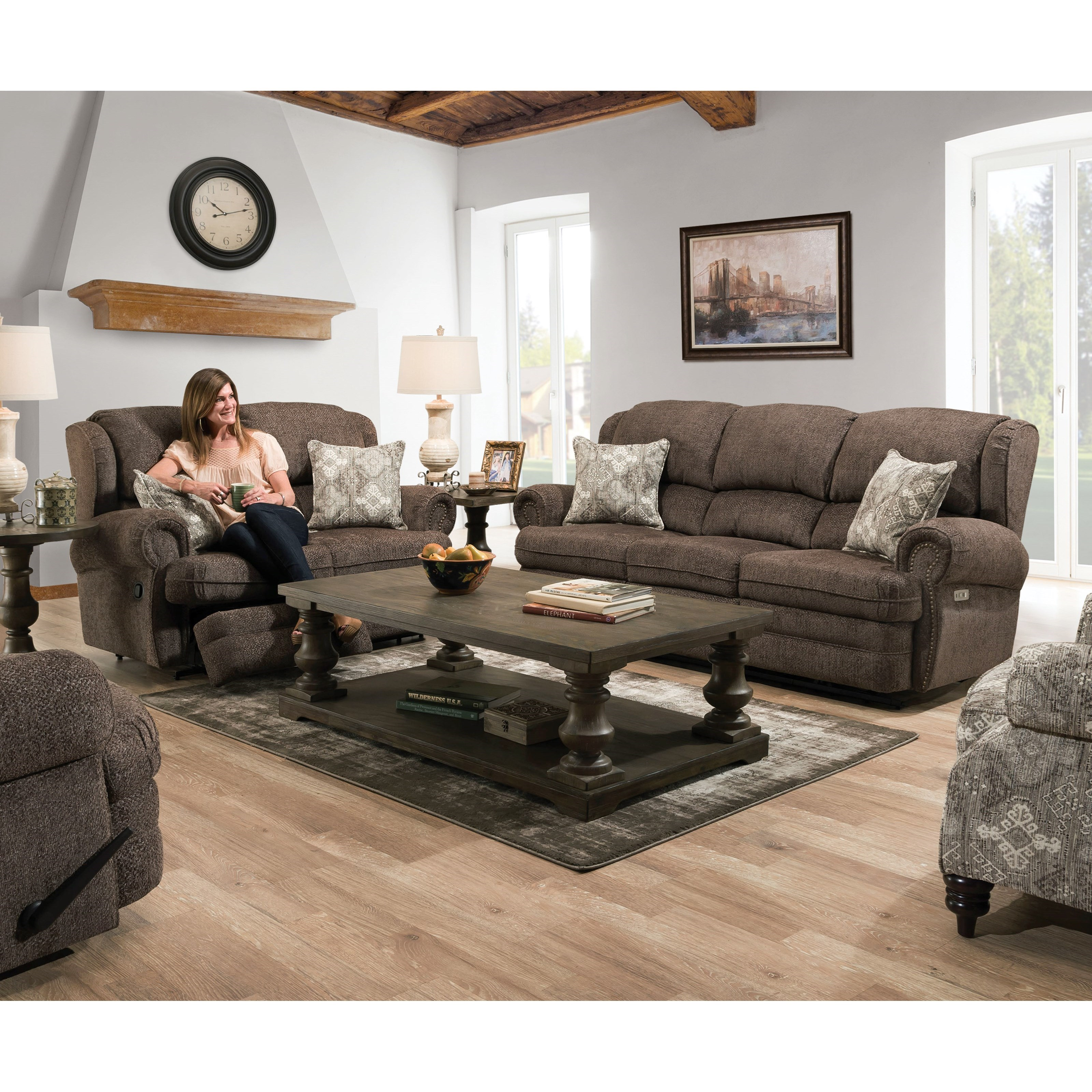 57000 Reclining Living Room Group by United Furniture Industries at Dream Home Interiors
