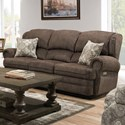 United Furniture Industries 57000 Power Reclining Sofa - Item Number: 57000PRecliningSofa-RosieMocha