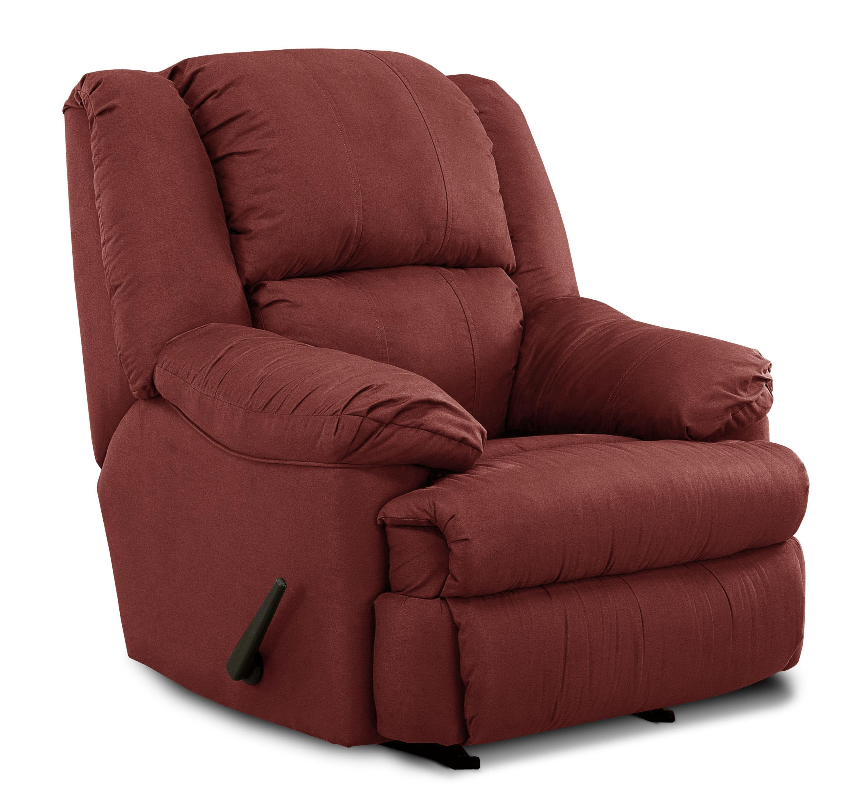 United Furniture Industries 604 Casual Rocker Recliner - Item Number: 604 Rocker Burgundy