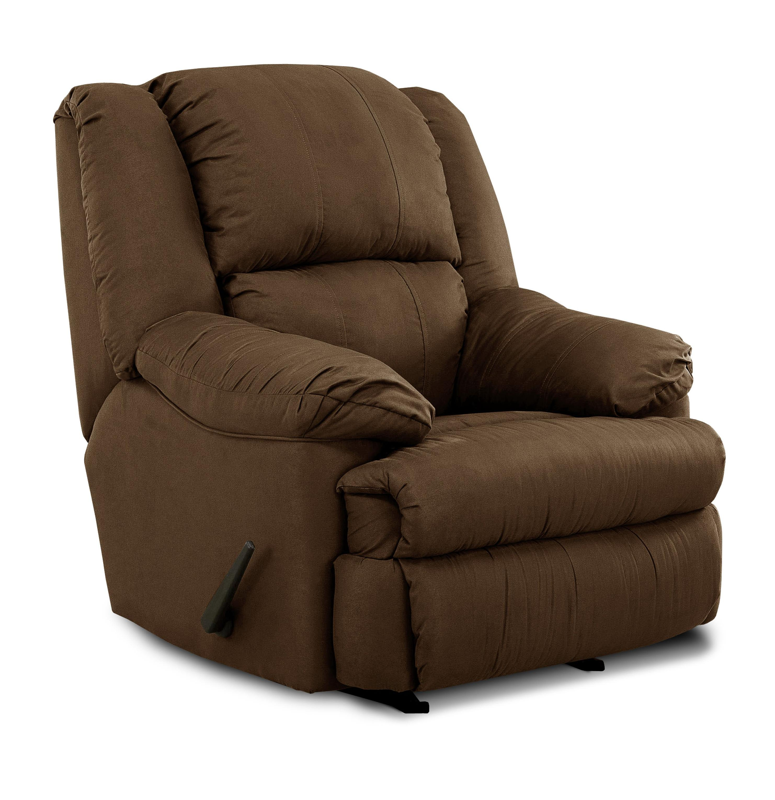 United Furniture Industries 604 Casual Rocker Recliner - Item Number: 604 Rocker Chocolate