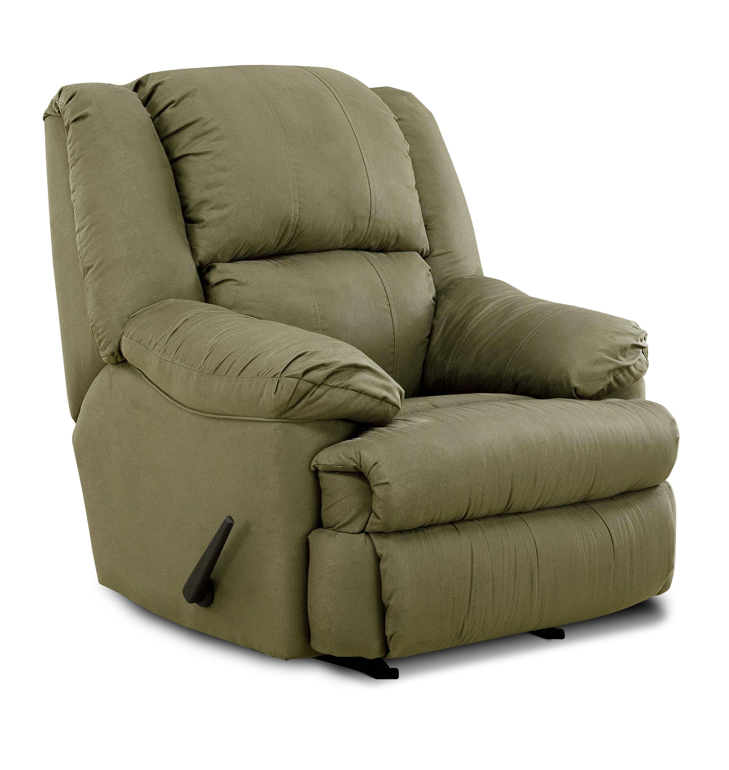 United Furniture Industries 604 Casual Rocker Recliner - Item Number: 604 Rocker Hazel